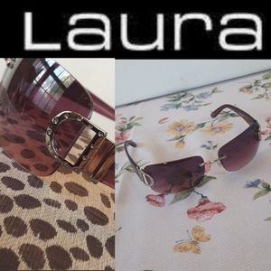 Laura purple sunglasses